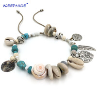 New Handmade Women Barefoot Jewelry Ankle Bracelet Antique Silver Coin Squirrels Anklet Bohemian Boho Chic