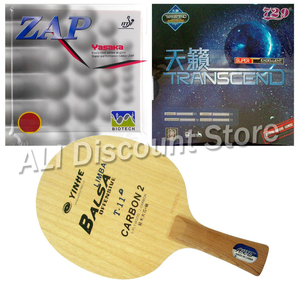 Galaxy YINHE T-11+ Blade with Yasaka ZAP 40mm NO ITTF and RITC729 TRANSCEND CREAM Rubbers for a Table Tennis Combo Racket FL pro combo racket galaxy yinhe t 11 blade long shakehand fl with yasaka era balance no ittf and spin no ittf rubbers