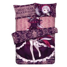 Japanese Anime Overlord Shalltear Bloodfallen Luxury Bedding Sets Modern Queen Bedding Set Twin Full King Warm Bed Linings Home(China)