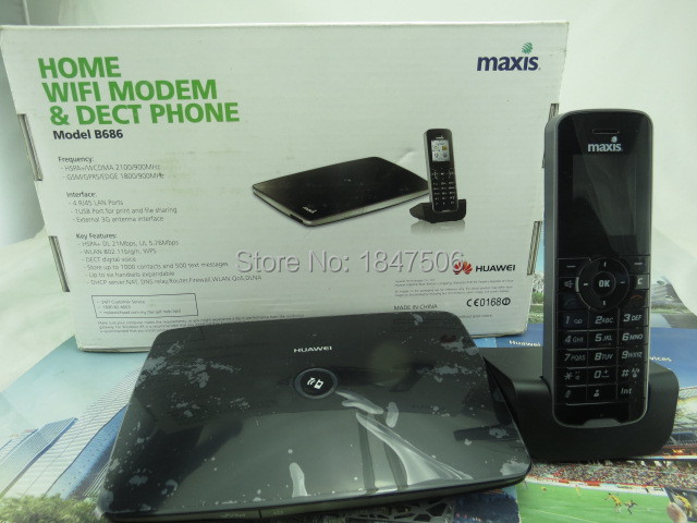 Huawei B686 3G Wi-Fi Router with UK 3-pin Power Supply with dect phone