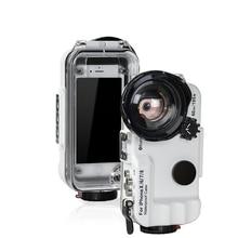 Bluetooth Controle Waterdichte Case Voor Iphone X Xs Xr Xs Max 8 7 6 6S Plus Cover Duiken Onderwater zwemmen Surfen Huis Foto