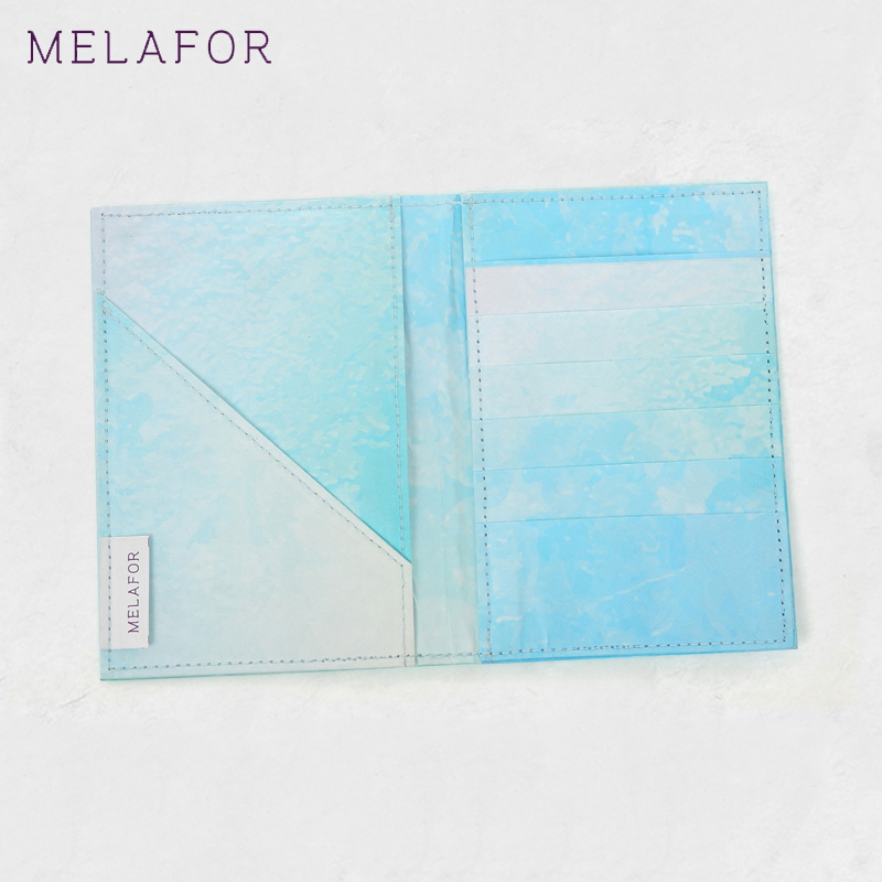 MELAFOR 2018 Men Passport Simple Solid Package Open Pocket Credit Card Useful Blue Non=Woven Fabric Passport Holder F71103-1 nahoo lanyard id badge clip name label plastic badge leather card holder vertical credit card bus card holder office supplies