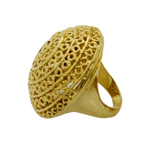Anniyo Big Ethiopian Ring Women Gold Color Eretrian Rings Girl