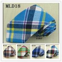 1 Pieces Lot Boutique 8cm Cotton Necktie More Than Ten Size Grid Design Can Choose