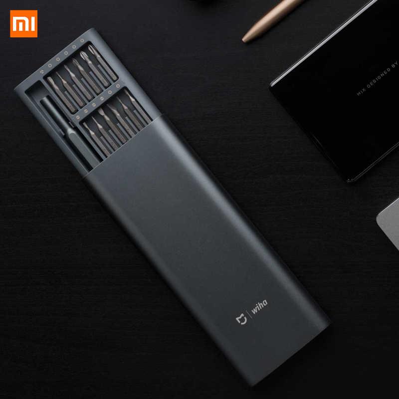 Destornillador Xiaomi Mijia Wiha Original 24 en 1 Kit de precisión 60HRC brocas magnéticas Xiomi Kit de herramientas de reparación para el Hogar Inteligente