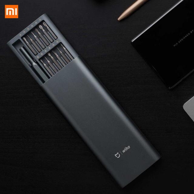 Original Xiaomi Mijia Wiha 24 in 1 Precision Screw Driver Kit 60HRC Magnetic Bits Xiaomi Home Kit Repair Tools Xiomi Xaomi