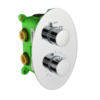 Thermostatic Shower Faucet Mixing Valve 2 Or 3 Ways Concealed Easy Mount Box Brass Concealed Valve