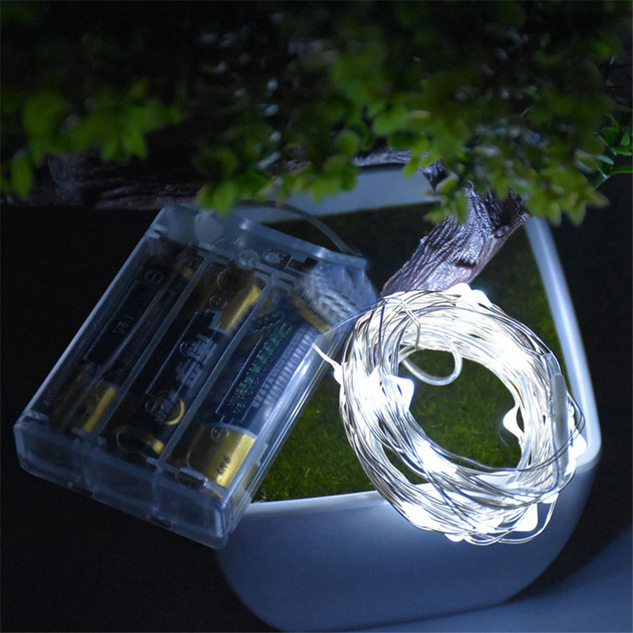 ?2M 20Led Copper Led String ? Lights Lights AA Battery Operated Waterproof ? Outdoor Outdoor ...