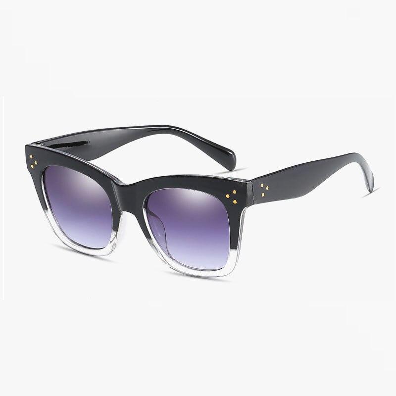 Black clear oversized square sunglasses women gradient 2018 summer style classic sun glasses big uv400 sun glasses for women