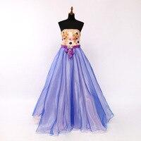 Ball Gown Cheap Quinceanera Gowns Formal Dress Navy Blue Vestidos De 15 Anos Strapless Elegant Applique Long Quinceanera Dresses