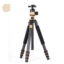hot sale pro Q1000C professional carbon fiber tripod SLR photography ball head Wholesale free shipping by