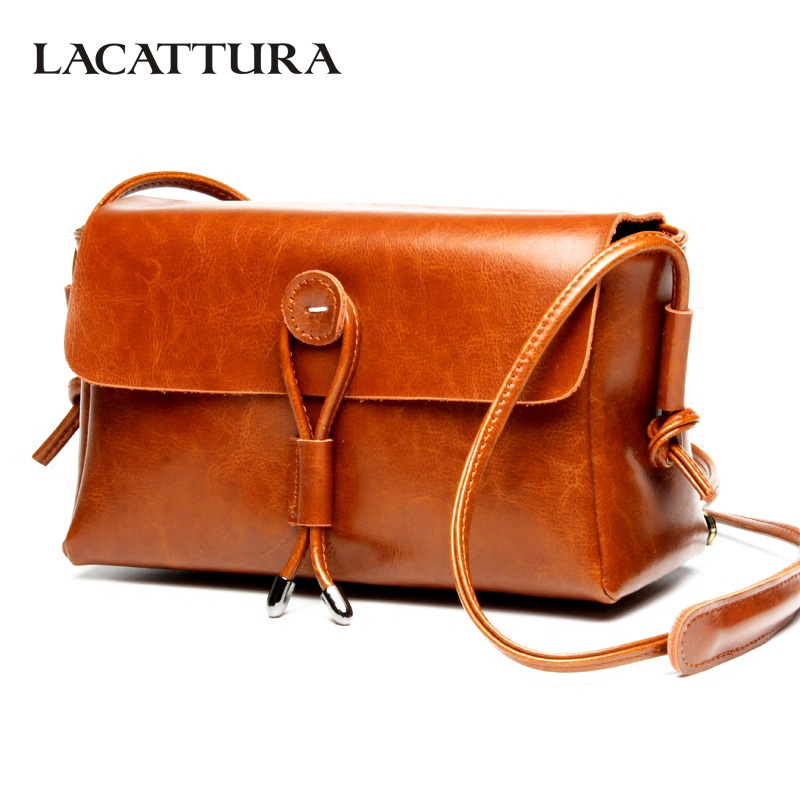 LACATTURA Luxury Women Shoulder Bag Designer Leather Handbag Brand Retro Messenger Bags Lady Clutch Fashion Crossbody for Women lacattura small bag women messenger bags split leather handbag lady tassels chain shoulder bag crossbody for girls summer colors