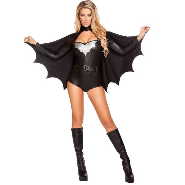 2018 Erwachsene Batman Kostüm Damen Teufel Cosplay Sexy Bat Woman