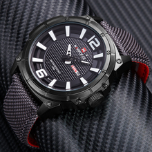 Naviforce moda relojes hombres marca de lujo para hombre de nylon correa relojes de pulsera de cuarzo de los hombres deportes populares relojes relogio masculino