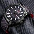Moda Relógios Homens Marca NAVIFORCE Mens Nylon Strap relógios de Pulso de Quartzo dos homens Populares Esportes de Luxo Relógios relogio masculino