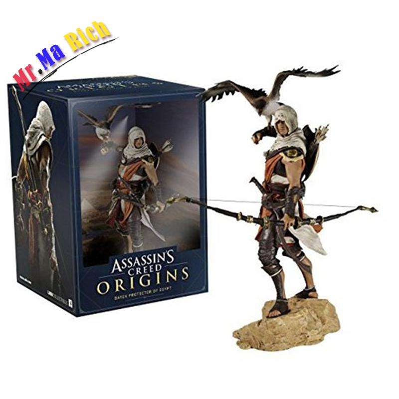 цена на Anime 25 Cm Assassin 's Creed Origini Bayek Action Pvc Figure Collection Model Toy Doll