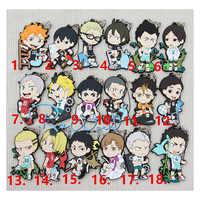 1 stücke Anime Keychain Haikyuu! Nekoma Karasuno Gymnasium Mit Volleyball Mitglieder Anhänger Keychain kulcstarto Llaveros Schlüsselring