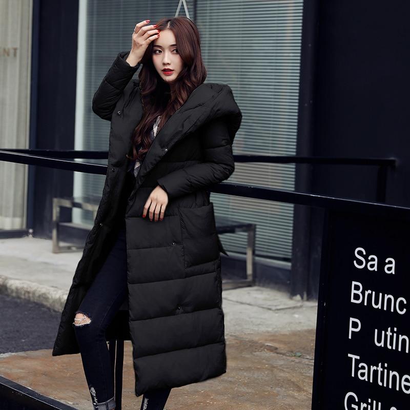 Veste Parka Manteaux Mujer D'hiver Femelle Coton Vestes Black gray 2018 Femmes Le Manteau Ayunsue Parkas Kj624 Red Rembourré wine Bas Vers De Long nw0mN8