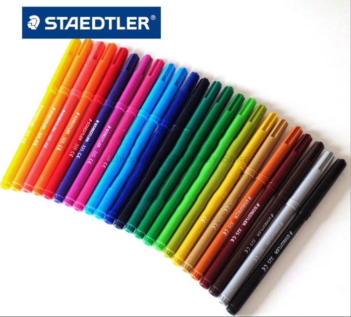 STAEDTLER 325 C24 24 color Water-soluble Art Markers Pens set Non-toxic watercolor can be washed for children drawing