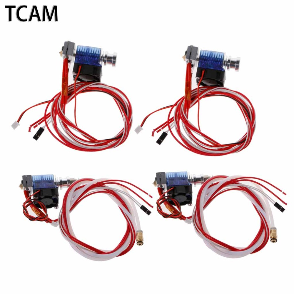 TCAM 3D Printer Parts E3D V6 Hotend Kit 0.4mm Nozzles 1.75/3mm Long/Short Distance J-head Remote Extruder