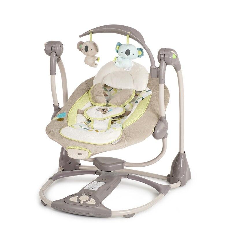 Ingéniosité Bébé En Acier ABS Eletric swing chaise à bascule à bascule videur berceau cavalier Balançoires 0-12 mois