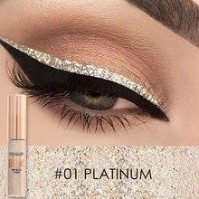 Focallure  Liquid Glitter Eyeliner Pencils White Gold Color Shining Shimmer Eye Liner Makeup Pen