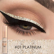 Focallure Liquid Glitter Eyeliner Potloden Wit Goud Kleur Shining Shimmer Eye Liner Make-Up Pen(China)