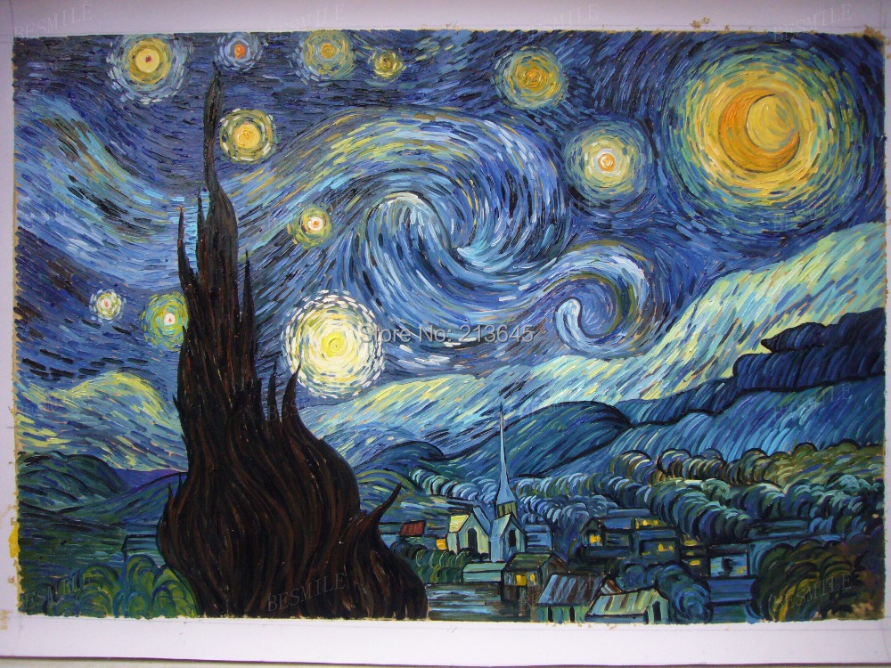 Vincent van gogh tardis images for Mural van gogh