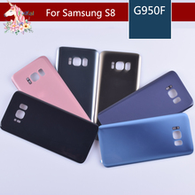 10pcs/lot For samsung Galaxy S8 G950 G950F S8 plus G955 G955F Housing Battery Cover Door Rear Chassis Back Case Housing Glass цена и фото