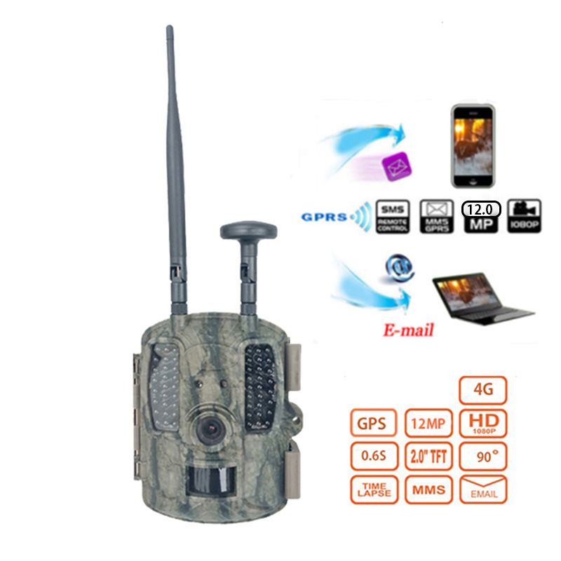 Skatolly 4G Digital Scouting Infrared Hunting Camera 12MP HD Video MMS GPRS GPS Night Vision Trap Game Wildlife Trail HunterCam hc 500m gprs mms hunting camera email notification scouting digital infrared trail camera 12mp hd 2 0 lcd video cameras