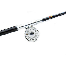 POINT BREAK High Quality1 Meter Stainless Pen Type Fishing Rod Mini Portable Telescopic Fishing Rod Colorful Sea Pole Rod Combo