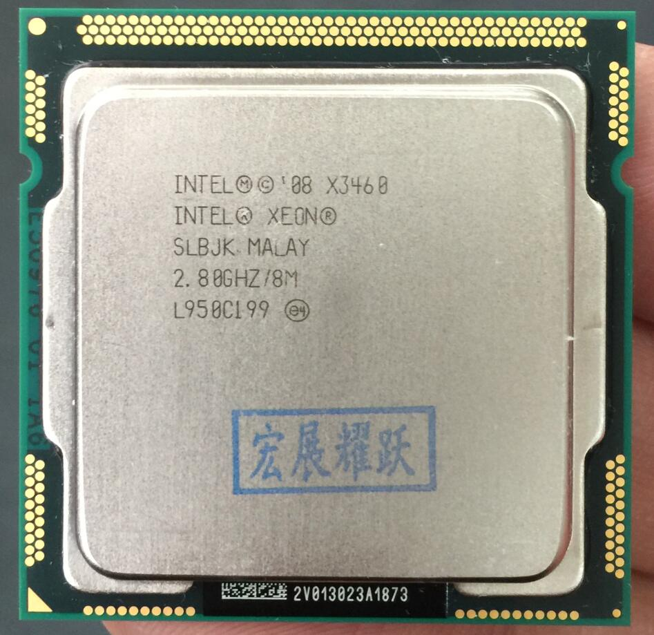Intel Xeon Processeur X3460 Quad-Core LGA1156 De Bureau CPU 100% fonctionne correctement De Bureau Processeur