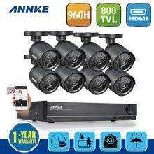 ANNKE Система 8-КАНАЛЬНЫЙ ВИДЕОНАБЛЮДЕНИЯ 960 H 720 P DVR 800TVL ИК Всепогодный Открытый CCTV Камеры Безопасности Дома Камеры Видеонаблюдения комплекты