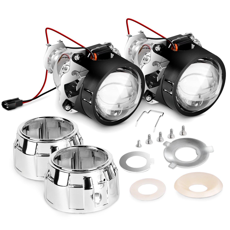 2.5 pouces WST H1 Bi xénon projecteur lentille projecteur lumière kit 12 v voiture mini bi-xénon HID projecteur lentille phare H7 bricolage