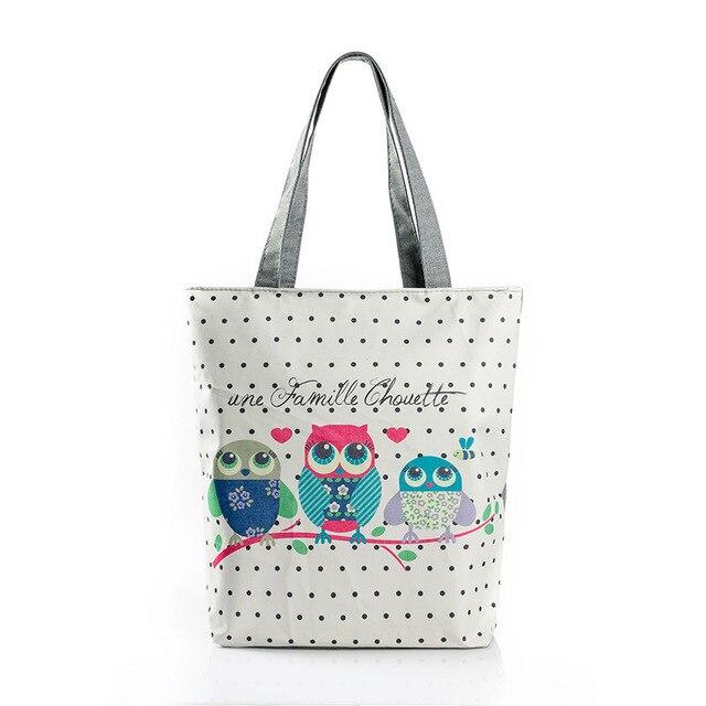 ff5e8976112 Vrouwelijke handtas Uil tas Goede kwaliteit Canvas Portemonnees en  handtassen dames Shopping tassen bolsa Zeer goedkope