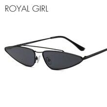 ФОТО royal girl new designer small frame sunglasses women vintage cat eye metal frame shades female glasses ss768