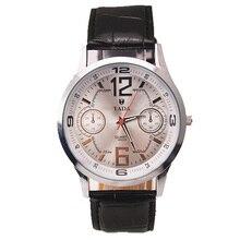 Бренд ТАДА PU кожаный Ремешок мужская Черный Кварцевые Часы женская Мода Наручные Часы Relojs Новый Конструктор Кожа Часы