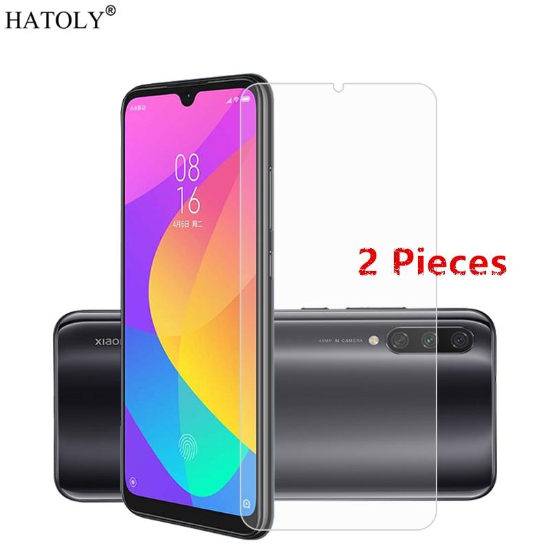 2Pcs For Xiaomi Mi CC9e Glass Tempered Film Full Glue Phone Screen Protector for