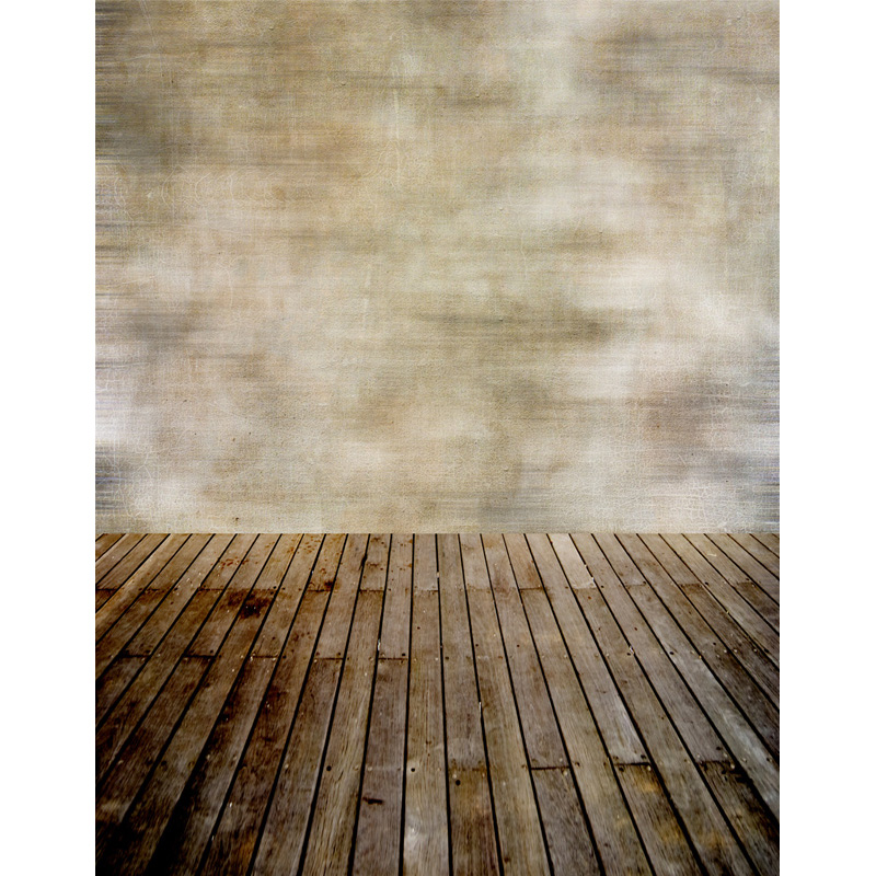 Custom vinyl cloth grunge wall wood floor photo studio backgrounds for wedding model photography photographic backdrops S-2564 custom vinyl cloth wood timber wall