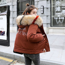 Warm Hooded Fur Collar Cotton Long Parka Plus Size Women Winter Coat Jacket 2018 Clothing For Mujer Feminine De Inverno Casaco