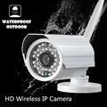 Cámara inalámbrica IP onvif nvr WIFI Megapixel 720 p HD CCTV CÁMARAS de Seguridad al aire libre IR Tarjeta SD Infrarrojos P2P Bullet a prueba de agua