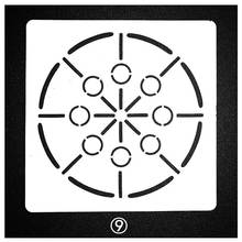 Mandala Circle Dot Line Stencils For Painting Scrapbooking Stamp Cake Decorating Tool Embossing Paper Card Album DIY Decoration