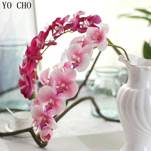 Silk orchids wedding decor flower artificial orchid flowers silk silk orchids wedding decor flower artificial orchid flowers silk real touch butterfly flower diy bridal bouquet mightylinksfo