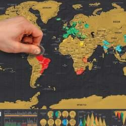 1 шт.. Царапина карта персональный мир царапина карта мини креативная царапина закрыть слово карта Офис Школьные принадлежности