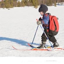Factory Direct Sale Children Snow Skis and Poles, Glass Fiber Sled Snowboard 100-120cm*4.4cm