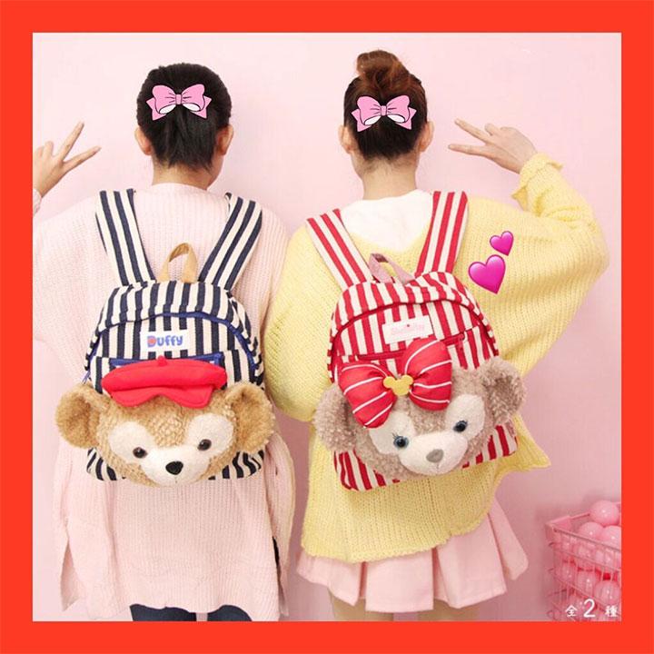 Japan Duffy Bear Backpack Shelliemay Plush Kids Cartoon School Bag Children Gifts