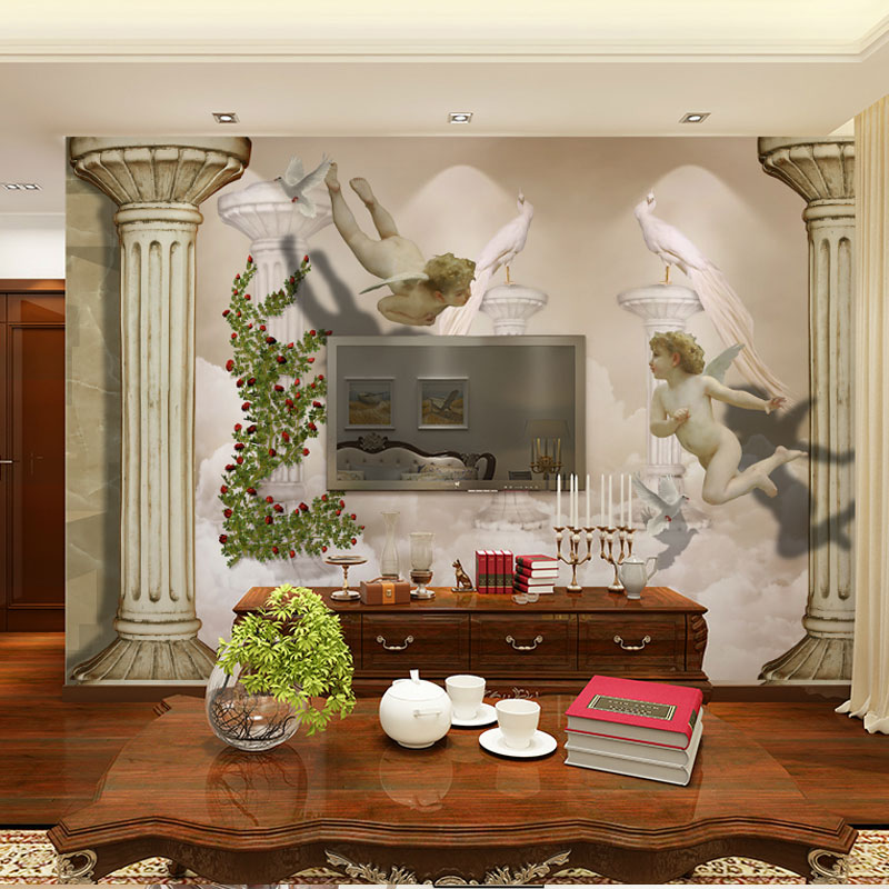 angel mural room photo wholesale wallpaper home with decor murals jade european wall product removable cartoon
