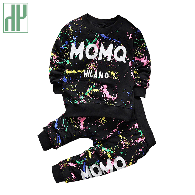 Baby Girl Clothes 2016 Spring Fashion printing graffiti Newborn baby boy clothes Set Infant Girl Long Sleeve Clothing 3-24M