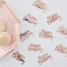 450 шт., розовые золотые конфетти, вечерние украшения для мальчиков на первый день рождения, украшения для детей, конфетти#2N21