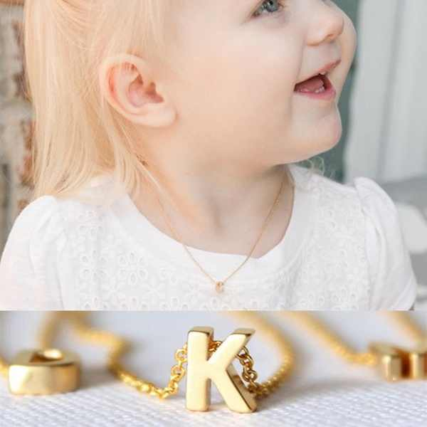 Tiny gold initial necklace gold letter necklace initials name necklaces pendant for women girls best birthday gift Collier Femme